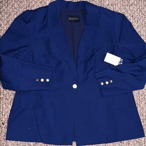 Eloquii NWT plus size classic royal blue blazer